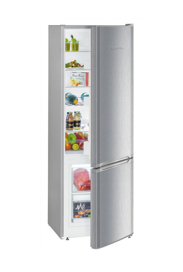 Voľne stojaca kombinovaná chladnička s mrazničkou dole CUel 281