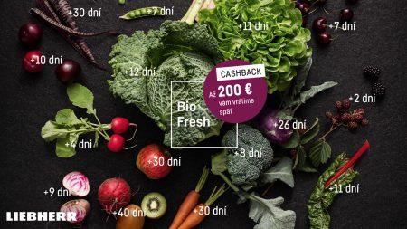 CASHBACK – Ušetrite až 200 EUR na spotrebičoch s BioFresh